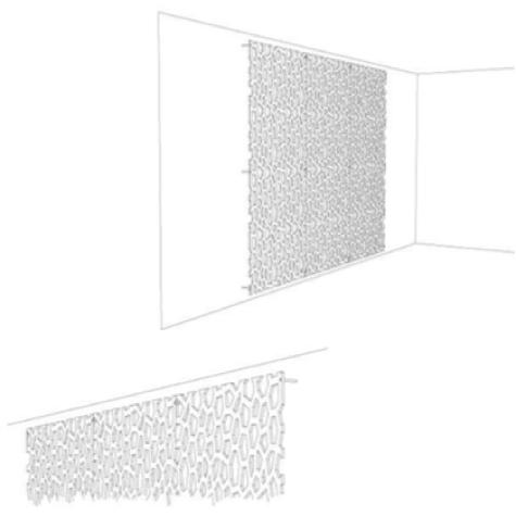 Sujetadores de Páneles y Celosias - Flotada en Muro